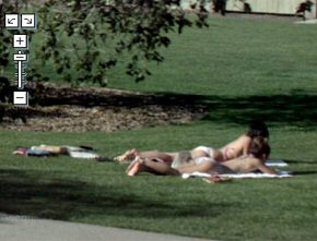 Girls sunbathing captured by Street View